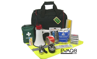Business Grab Bag - standard Emergency Kit suitable for offices and other small units | School Emergency Kits to NACTSO guidelines (UK National Counterterrorism Security Office) and safety supplies from EVAQ8.co.uk the UK's emergency preparedness specialist